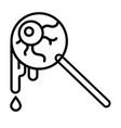 eyeball candy line vector image vector image
