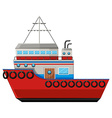 Fishing boat on white background vector image vector image