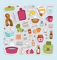 flu influenza icons vector image vector image
