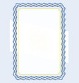 frame and border of ribbon with argentina flag vector image