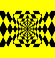 geometric abstract black and yellow background vector image