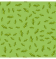 Green Cartoon Grasshoppers Seamless Pattern vector image vector image