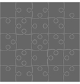 Grey Puzzles Pieces - JigSaw - 25 vector image vector image