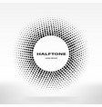 halftone circle halftone dots frame center element vector image vector image