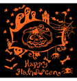 halloween hand drawn background vector image