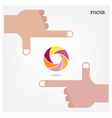 Hands and business vision concept vector image vector image