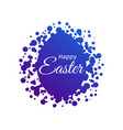 happy easter easter egg with dots blue gradient vector image