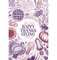 happy thanksgiving day design template vector image vector image