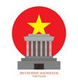 ho chi minh mausoleum hanoi vietnam vector image vector image