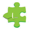 Isolated puzzle piece