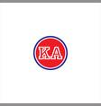 k a letter logo icon design vector image vector image