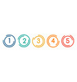 line flat circles with numbers for infographic vector image