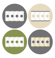 Mattress Structure Icons Set vector image