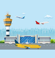 modern building of airport terminal vector image vector image