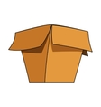 open cardboard box icon vector image