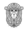 Ornamental White Monkey vector image vector image