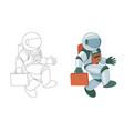 professional spaceman in modern pressure suit vector image vector image