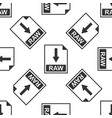 raw file document icon download raw button icon vector image vector image