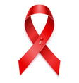 red ribbon aids awareness stock vector image
