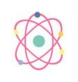 science molecule atom school isolated icon design vector image