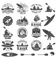 set canoe and kayak club badges vector image