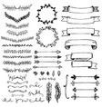 set hand drawn design elements vector image vector image