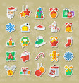 set of christmas and new year icons clipart vector image