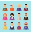 Set of People Characters Avatars in Flat Design vector image vector image