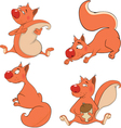 Set of squirrels cartoon vector image