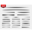 shadows set page dividers on transparent vector image vector image