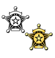 Sheriff Badge vector image vector image