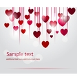 Shiny heart background vector image