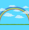 sky with rainbow vector image vector image