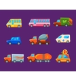 Toy Cars Colorful Different Service Set vector image vector image