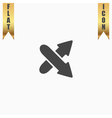 Two arrows Direction sign Flat design style vector image vector image