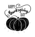 typography banner happy thanksgiving day decorated vector image vector image