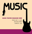 Unusual guitar poster ideal for music gig vector image