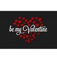 Valentines Day Vintage On Hearts Background vector image