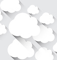 White paper flat clouds vector image