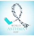 World Asthma Day poster vector image vector image