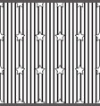 black stripe and star on white background vector image