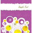 Spring floral background with text space vector image