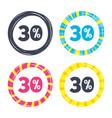 30 percent discount sign icon sale symbol vector image vector image