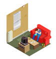 addictions isometric composition vector image