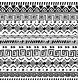 african decorative pattern tribal ornament tiki vector image