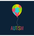 Autism card template vector image