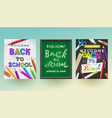 back to school - set banners vector image vector image