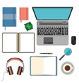 Big set of flat design items for business and vector image vector image