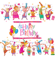 Birthday cartoon set vector image vector image