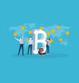 bitcoin market vector image vector image